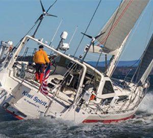 University of Saint Augustine's Dr. Stanley Paris took the Kiwi spirit sailing from St. Georges, Bermuda to Newport, Rhode Island