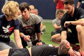 USA Physical Therapy student voluteers at Wounded Warrior Games crossfit competition