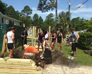 USAHS students volunteer on behalf of nonprofit St. Johns Housing Partnership in Saint Augustine