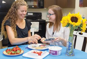 MOT student implementing internship fieldwork experience in occupational therapy