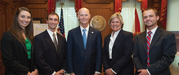 Saint Augustine DPT students along with FPTA Board of Directors, members and staff met with Governor Rick Scott to celebrate the signing of HB799