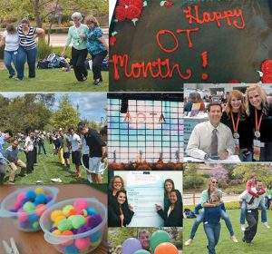 USAHS' California campus celebrated National Occupational Therapy Month in April by participating in activities including the AOTA Conference and Expo