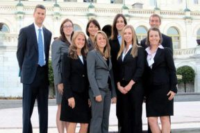 USA Faculty member and students in Washington, DC.