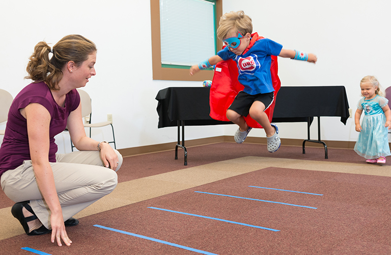 Occupational Therapy Students Work with Children in the Community