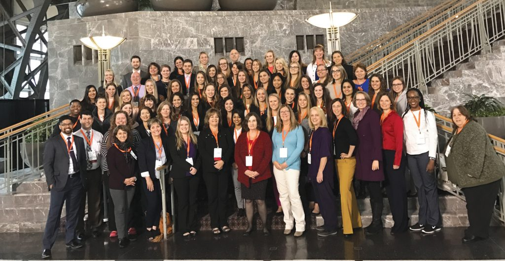 Dozens of students and faculty attend the American Occupational Therapy Association's centennial conference in Philadelphia.