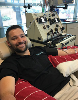Brennan McQuiston, an Austin DPT student provides a bone marrow donation to save the life of a stranger with Cancer