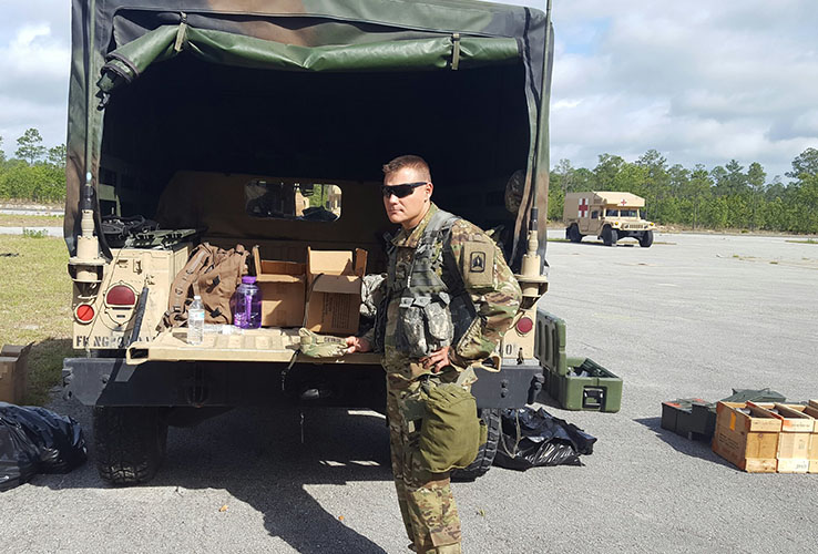 MHS Athletic Training Graduate gets nominated for a commendation for his role in the Army National Guard's humanitarian effort