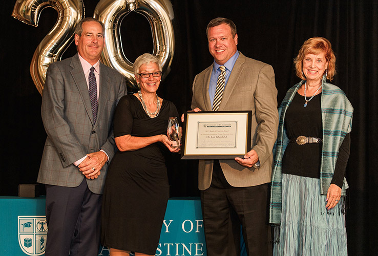 Dr. Jon Edenfield receives the USAHS 20th Anniversary Occupational Therapy Professional Award