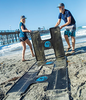 Beach Trax is an invention by OT graduates that creates an easy and portable pathway for wheelchairs at the beach.