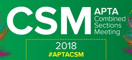 2018 APTA CSM