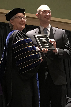 USAHS Alumni Award presented to DPT graduate for advancing the clinical practice of physical therapy.