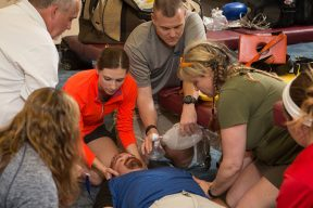 Athletic Trainers preparing for catastrophic injuries