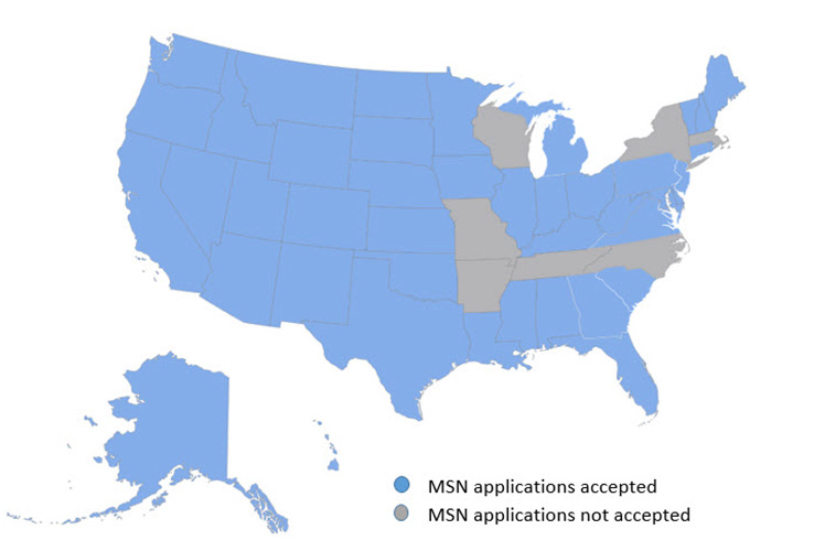 MSN Approved States