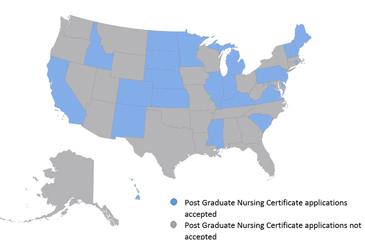 Post Graduate Nursing Certificates Approved States