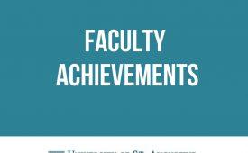 April Faculty Achievements