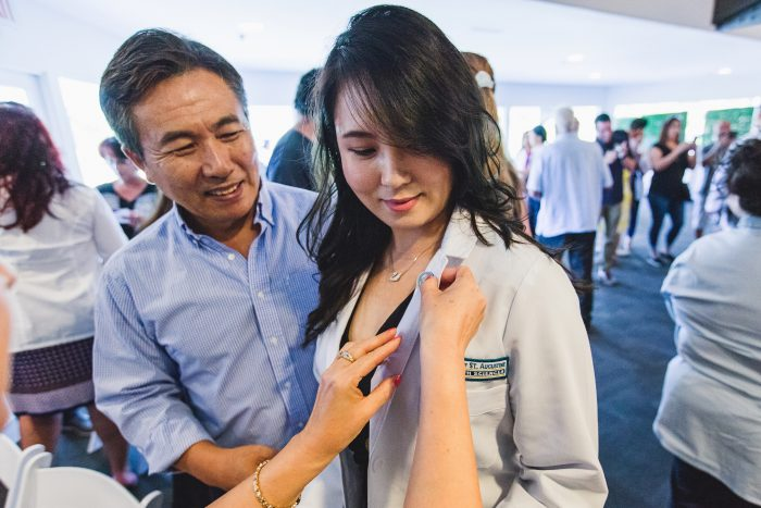 White Coat Ceremony Marks PTs' Passage into Clinical Work