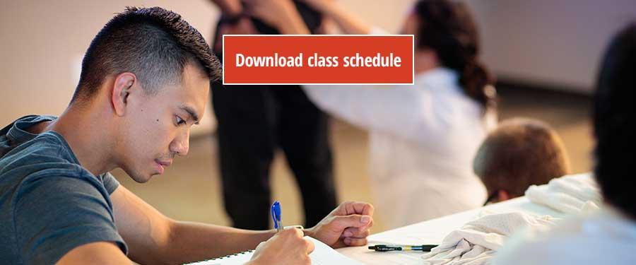 St. Augustine, Florida Campus: Class schedules