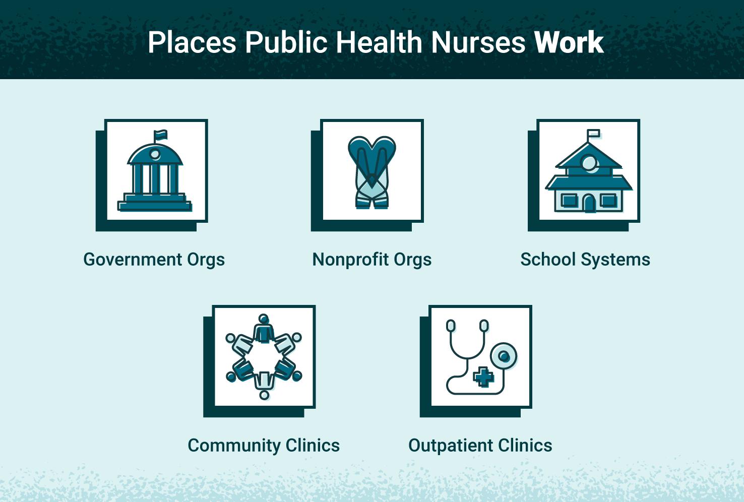 places public health nurses work