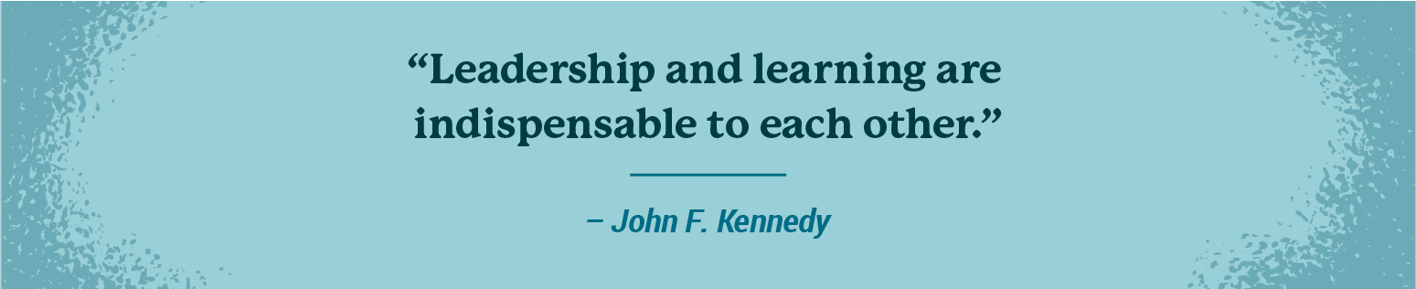 Leadership quote from JFK